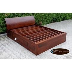 Palisandrowe drewniane Łóżko 160x200
