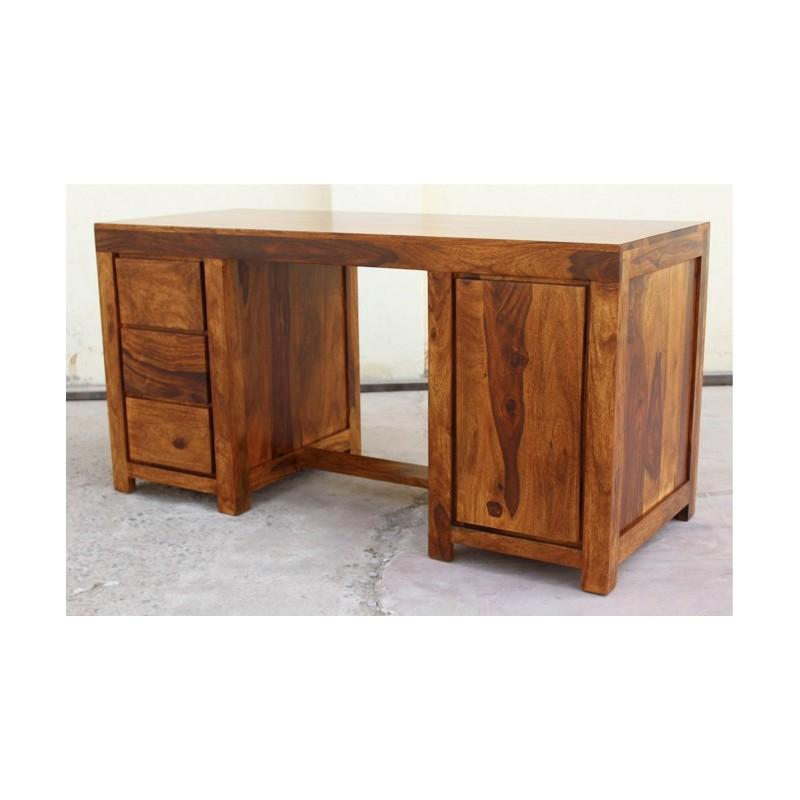 Indyjskie drewniane biurko 150x60x76