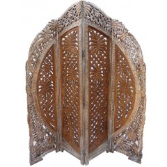 Indyjski drewniany parawan 180x150