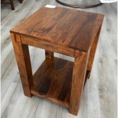 Kolonialny drewniany stolik ZEN 60x45