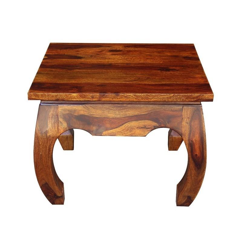 Kolonialny drewniany Stolik 45x60x60