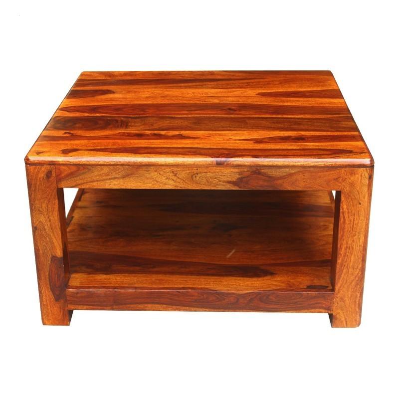Drewniany indyjski Stolik 80x80x45