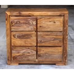 Drewniana indyjska komoda 90x40x100