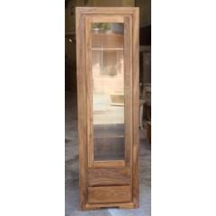 Drewniana indyjska witryna 200x60x40
