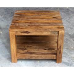 Drewniany indyjski stolik 45x60x60