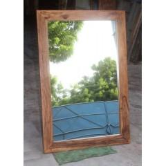 Drewniane indyjskie lustro 120x80