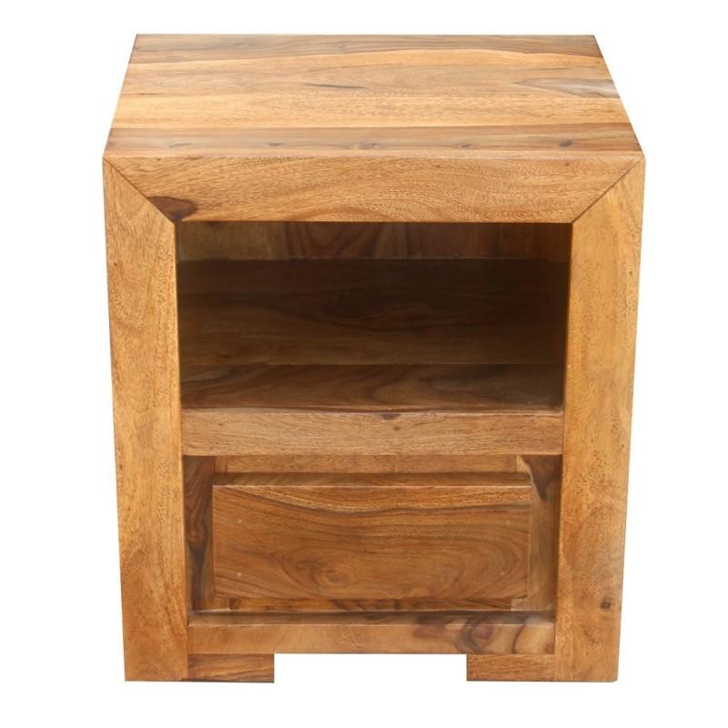 Kolonialna drewniana szafka nocna 50x45x40