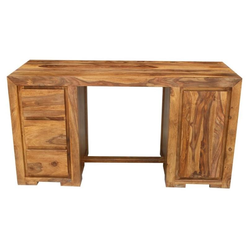 Kolonialne drewniane biurko 80x150x60
