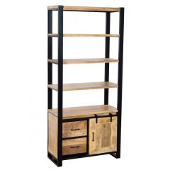Industrialny drewniany regał 200x120x40