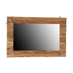 Indyjskie drewniane lustro 120x80