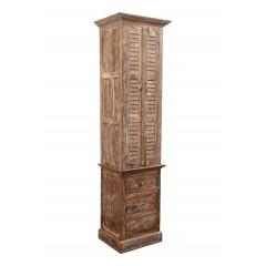 Indyjska drewniana szafa 213x65