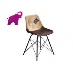 Loftowe metalowe krzesło 80x49x45