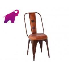 Indyjskie krzesło ze skórą 93x52x44