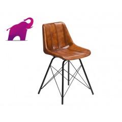 Loftowe Krzesło ze skóry 45x49x80