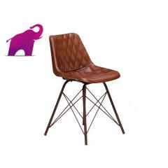 Loftowe Krzesło ze skóry 47x50x74
