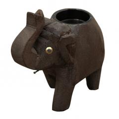 """Metalowy świecznik """"słoń"""""""