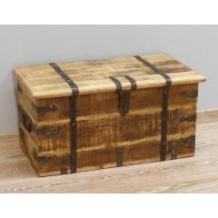 Drewniany Indyjski Kufer 80x40x40