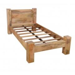 Łóżko z drewna mango ZENM 100x200