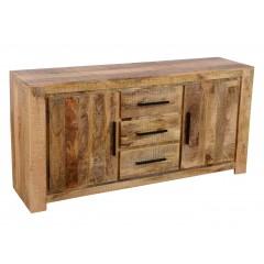 Rustykalna drewniana komoda 175x40x85