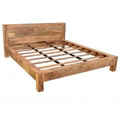 Rustykalne drewniane łóżko 180x200
