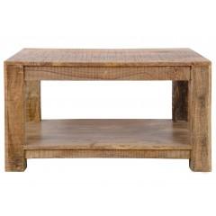Rustykalny indyjski stolik 60x60x45