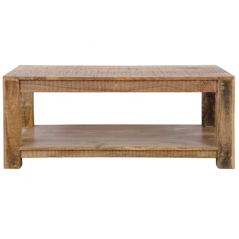 Drewniany indyjski stolik 90x60x45