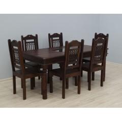 Drewniany komplet obiadowy Jali 175x90