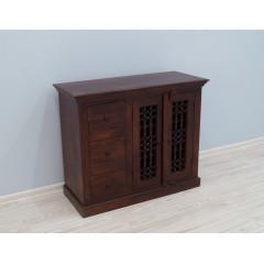 Kolonialna drewniana komoda 107X45X89