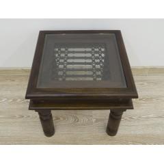 Kolonialny palisandrowy stolik 55X55X52
