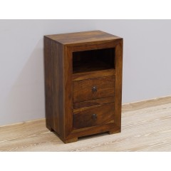Drewniana indyjska szafka nocna 45X35X70