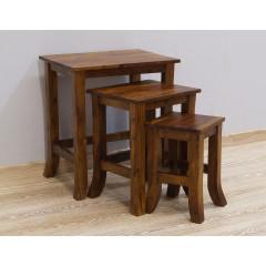 Komplet drewnianych stolików 52X37X58