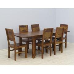 Drewniany komplet obiadowy 150x90x76