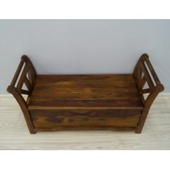 Drewniana indyjska ławka 110X41X58
