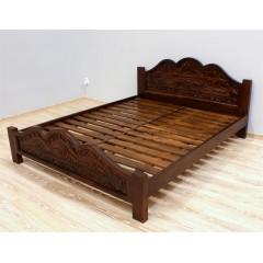Drewniane rzeźbione łóżko 160x200