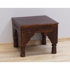 Drewniany indyjski stolik 60X60X48