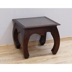 Drewniany indyjski stolik 58X58X48
