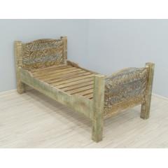 Łóżko drewniane indyjskie 80x160