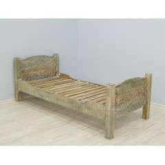 Drewniane indyjskie łóżko 90x200