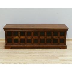 Drewniany indyjski kufer 150X50X50
