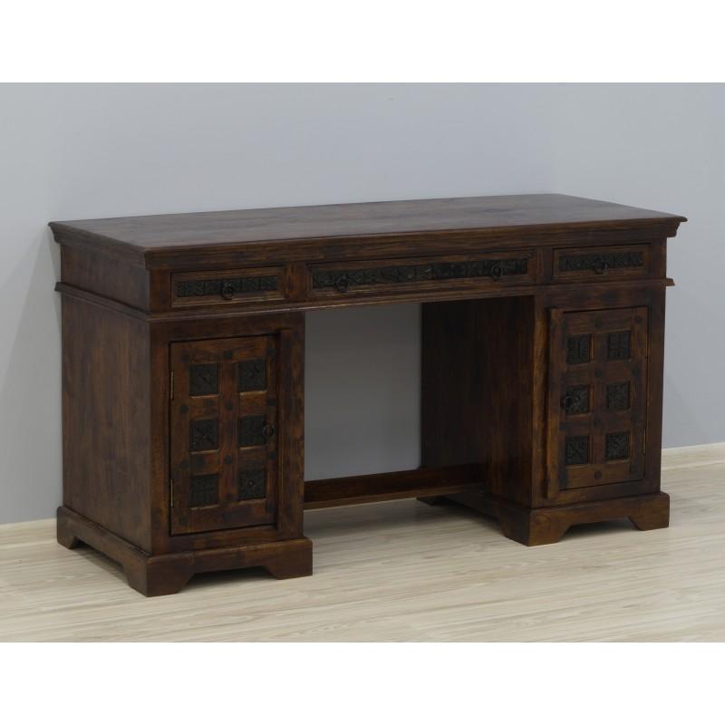 Drewniane kolonialne biurko 150X60X78