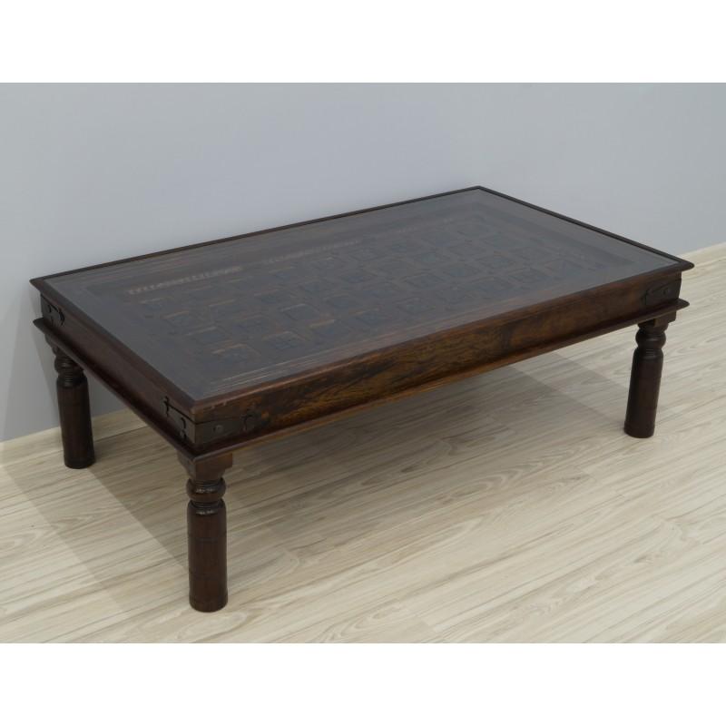 Drewniany kolonialny stolik 140X80X48