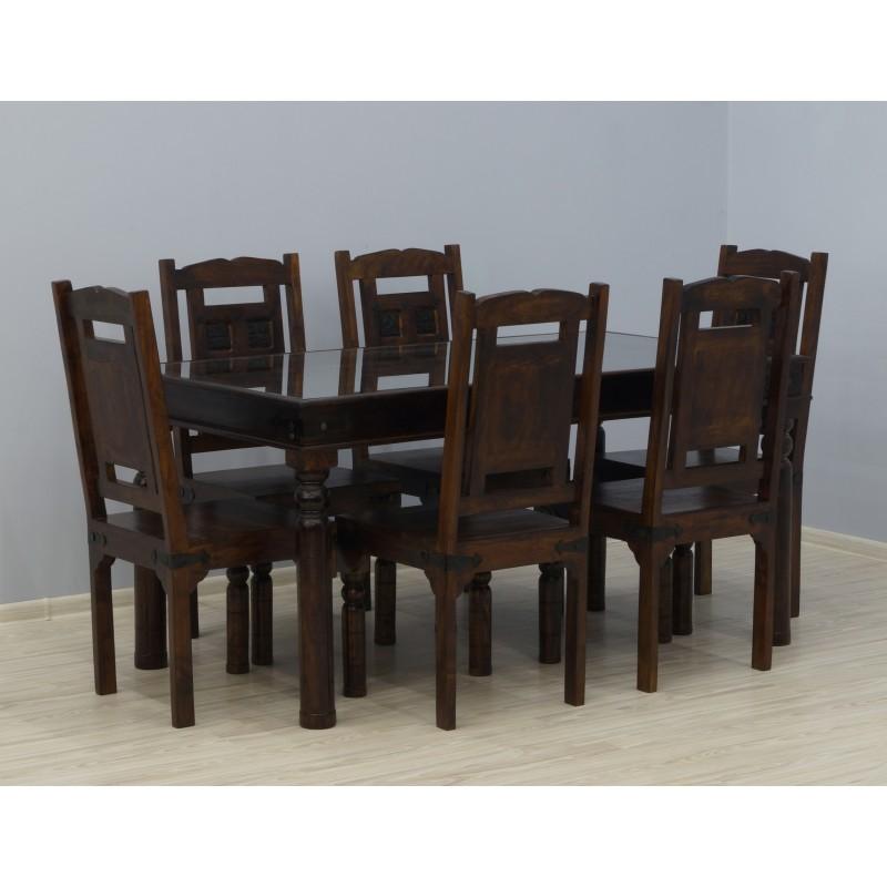 Drewniany komplet obiadowy 160x90x78