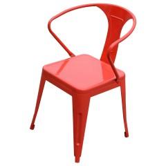 Industrialne metalowe krzesło 45x48x84