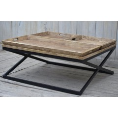 Drewniany Stolik LOFT 120x120x55