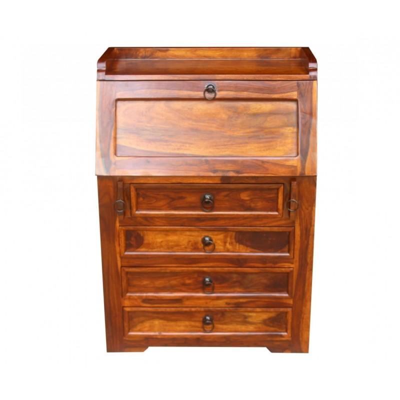 Indyjski drewniany sekretarzyk 100x70x40