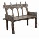 Kolonialna drewniana ławka 102x117x55