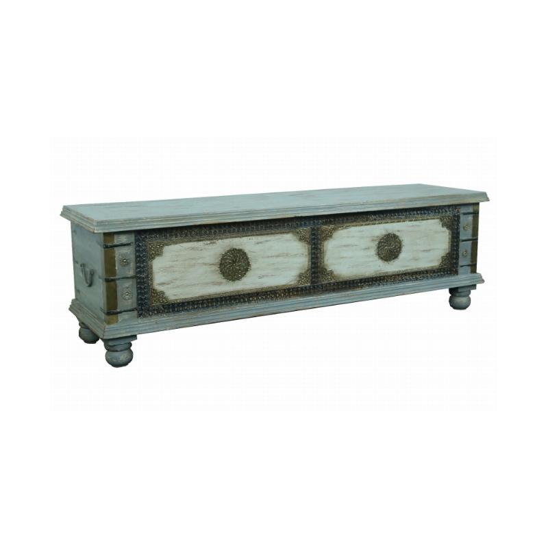 Drewniana indyjska Skrzynia 146x40x45