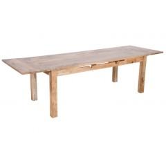 Drewniany rozkładany stół 160x90x76