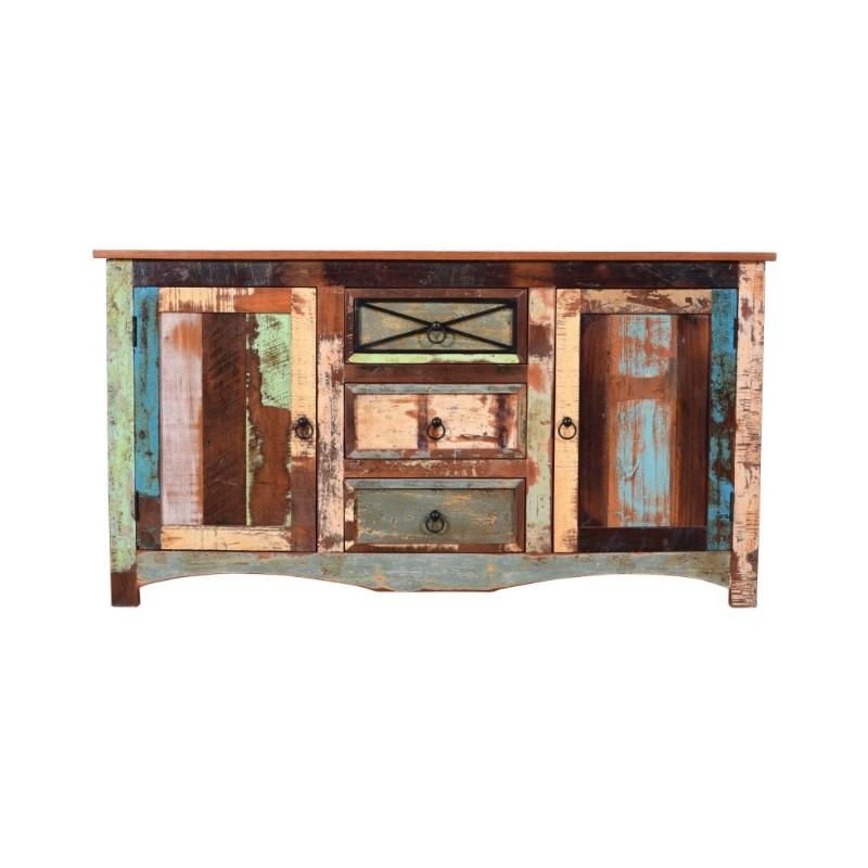 Recyklingowa drewniana Komoda 85x150x45