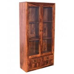 Indyjska drewniana witryna 195x100x40